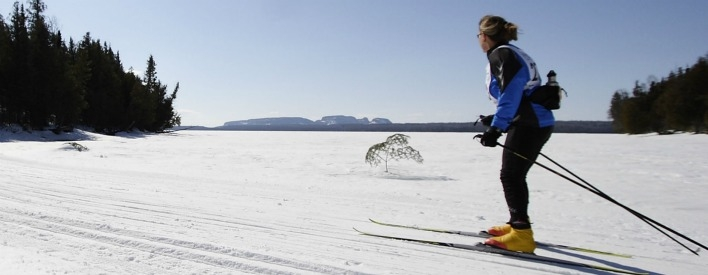 Cross-country skiing at its finest in Sleeping Giant Provincial Park