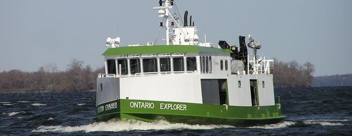 Vue de l'avant de l'Ontario Explorer