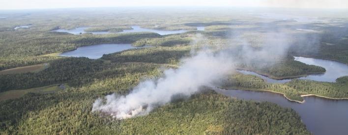 Smoke fills the sky over Kenora Fire 31