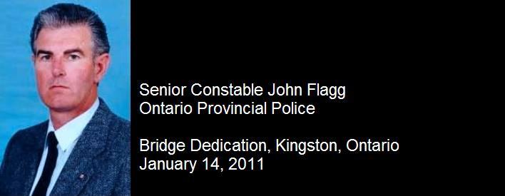Kingston Bridge Dedicated In Memory Of Senior Constable John Flagg