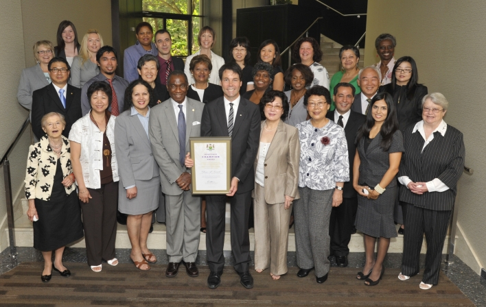 2010 Newcomer Champion Awards Recipients Honoured