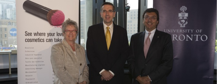 Bonnie Patterson, President of the Council of Ontario Universities, John Milloy, Minister of Training, Colleges & Universities & David Naylor, President of the University of Toronto
