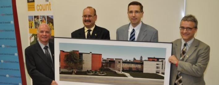 MPP Pat Hoy, Dr. Art Schaafsma, Minister Milloy & Dr. Rob Gordon