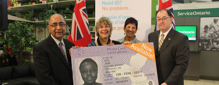 La carte-photo de l'Ontario est offerte dans les centres ServiceOntario de la région de Toronto