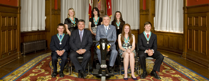 Ontario Medal For Young Volunteers: 2012 Recipients
