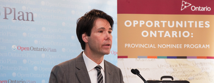 Minister Hoskins announces changes to the Opportunities Ontario program for PhD graduates.