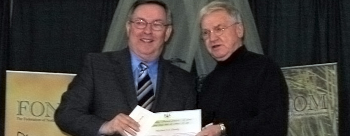 Timmins Councillor Michael Doody is the recipient of a 25-year Long-Standing Service Award from the Province of Ontario.