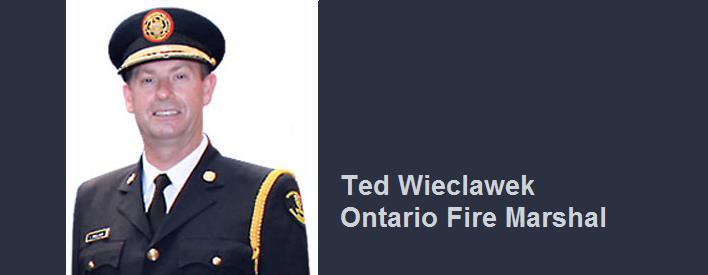 Ted Wieclawek, Ontario Fire Marshal