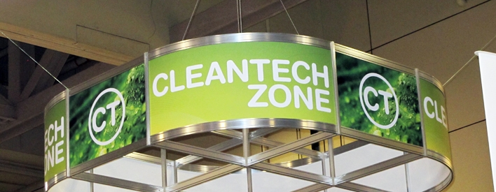 Cleantech Zone banner.