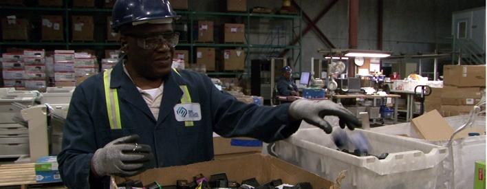 Recycling electronics creates 200 jobs.