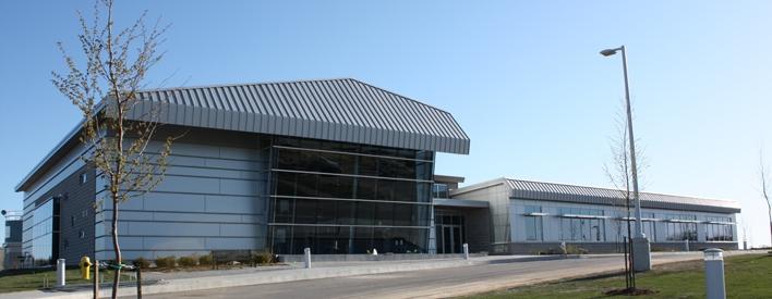 Le nouveau et avant-gardiste Centre de Walterton pour l'assainissement de l'eau.