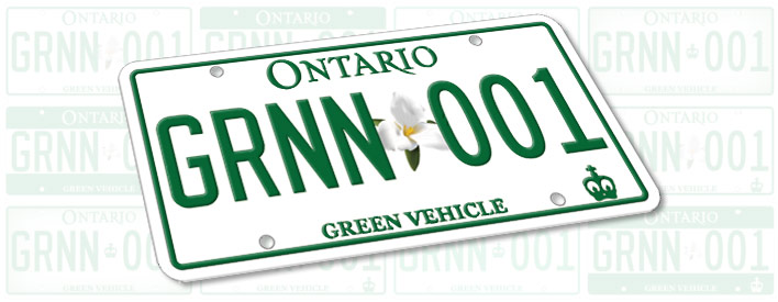 New 'Green' Licence Plate Selected By Ontarians