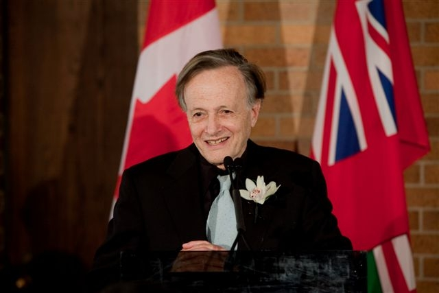 Dr. John Charles Polanyi speaks at the 2009 Polanyi Prize ceremony.
