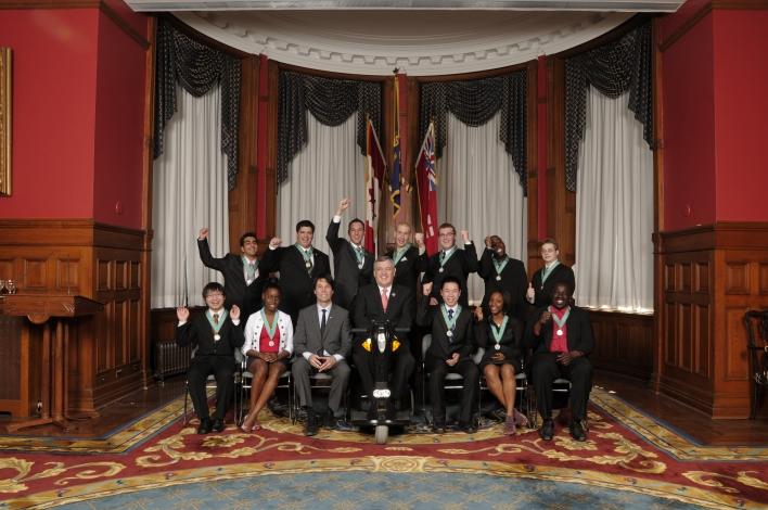 Ontario Medal For Young Volunteers Recipients