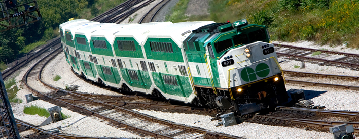 Prime Minister Stephen Harper and Premier Dalton McGuinty announce investment in GO Transit.