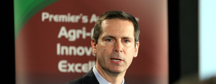 Premier McGuinty at the 4th annual Premier's Summit on Agri-Food.