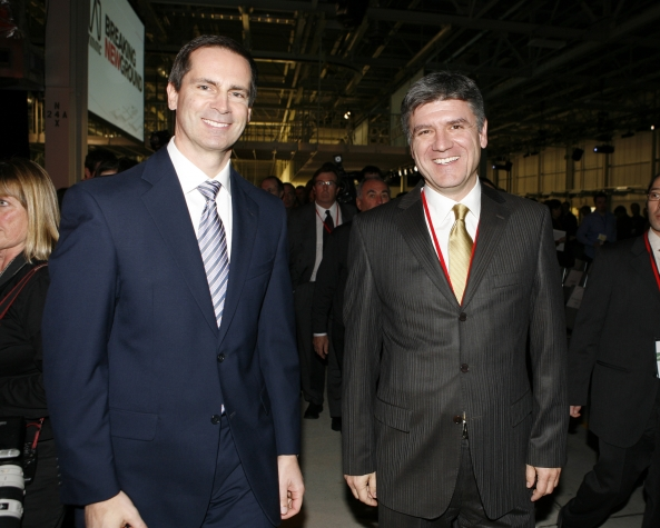 Premier McGuinty and the former Ontario Minister of Economic Development and Trade.