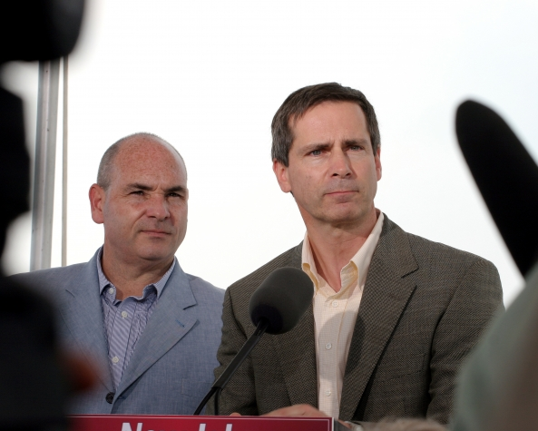 Premier McGuinty and George Smitherman, Minister of Energy and Infrastructure, announce a $61.5 million investment to build a new George Brown campus on the Toronto waterfront.