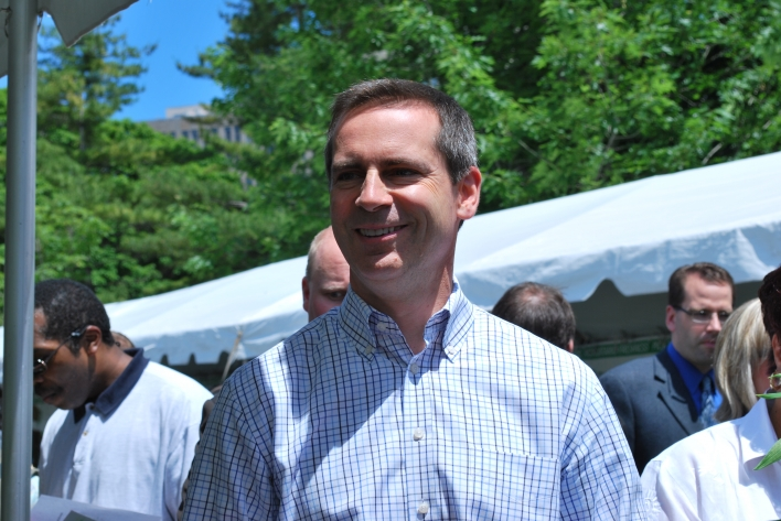 Premier Dalton McGuinty takes in the annual Queen's Park Farmers' Market.