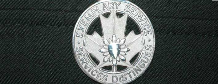 This is the first year that Ministry of Natural Resources conservation officers are eligible for the Peace Officer Exemplary Service Medal.