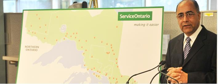 Getting service from the Ontario government will be easier, with 300 new integrated ServiceOntario centres.